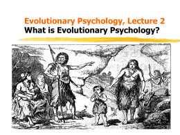 What is Evolutionary Psychology?