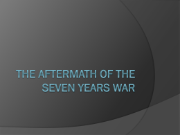 Conclusion of the Seven Years' War