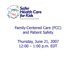 Patient and Family Centered Care