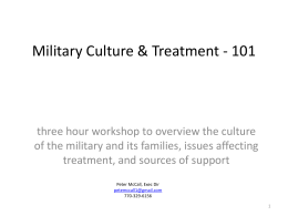 Military Culture & Treatment