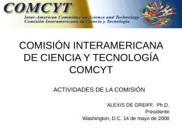 COMISIÓN INTERAMERICANA DE CIENCIA Y TECNOLOGÍA