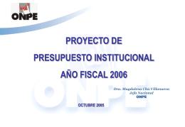Proyecto de Presupuesto 2004