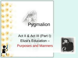Pygmalion Act 2