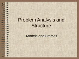 Problem Analysis and Structure