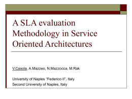 A SLA evaluation Methodology in Service Oriented