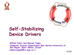 Self-stabilizing Operating Systems