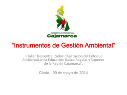 """Instrumentos de Gestión Ambiental"""""""