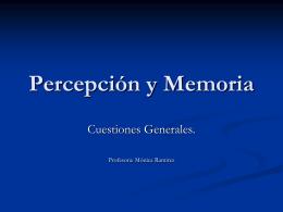 Percepción y Memoria