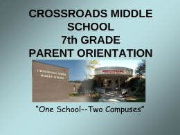 CROSSROADS MIDDLE SCHOOL 7th GRADE PARENT