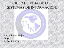 CICLO DE VIDA DE LOS SISTEMAS DE INFORMACIÓN.