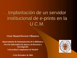 Implantación de un servidor institucional de
