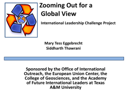 Zooming Out for a Global View Global Issues