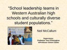 School leadership teams in Western Australian high
