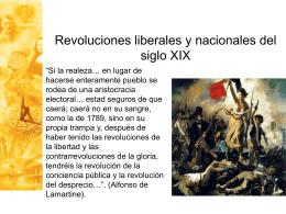 Clase 20: Revoluciones liberales y nacionales del