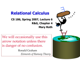 Relational Calculus - EECS Instructional Support