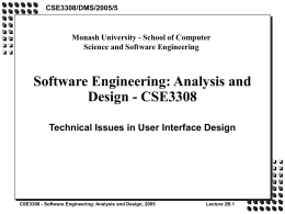 Software Engineering: Analysis and Design -
