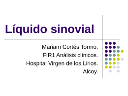 Líquido sinovial - Portal del Departament d`Alcoi