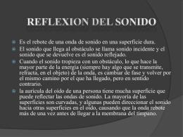 Reflexión (sonido) - Apreciación Sonora