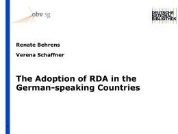 Die Entwicklung der RDA im deutschsprachigen