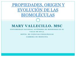 PROPIEDADES, ORIGEN Y EVOLUCIÓN DE LAS