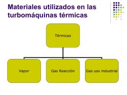 Materiales utilizados en las turbomáquinas
