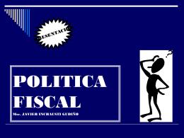 1. La política tributaria como rama de la política