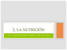 2. La nutrición