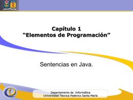 Programación de Computadores IWI-131