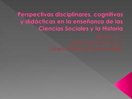 Perspectivas disciplinares, cognitivas y