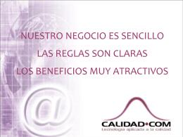 Presentación de Franquicia CALIDAD.COM