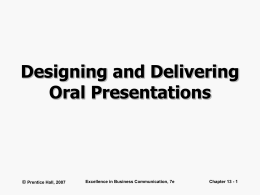 Designing and Delivering Oral Presentations