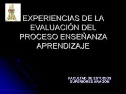 EXPERIENCIAS DE LA EVALUACIÓN DEL PROCESO