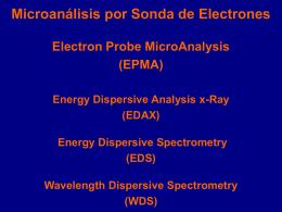 Microanálisis por sonda de electrones (EPMA)
