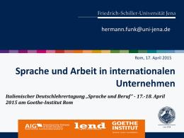 FSU PowerPointPräsentation - Goethe