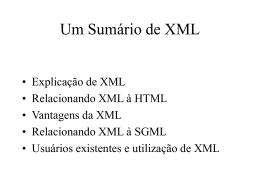 Um Sumário de XML Aula 4
