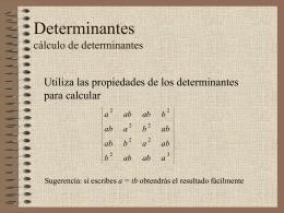Cálculo de determinantes