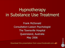 Hypnotherapy in Substance Use Treatment
