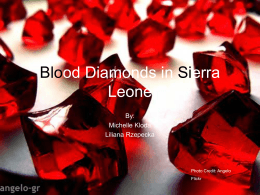 Blood Diamonds in Sierra Leone