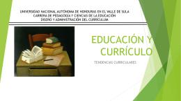 EDUCACIÓN Y CURRÍCULO