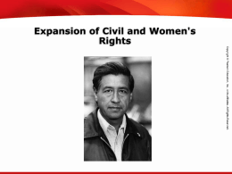 Expansion of Civil and Women`s Rights