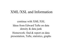 XML/XSL and Information