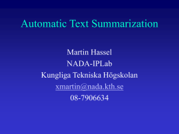 Pronominal Resolution in Automatic Text