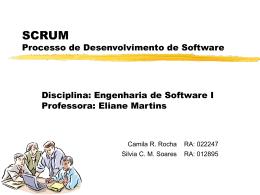 SCRUM Processo de Desenvolvimento de Software
