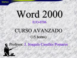 Presentación Word Avanzado