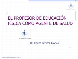 EL PROFESOR DE EDUCACIÓN FÍSICA COMO AGENTE DE