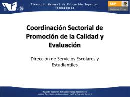 Coordinación Sectorial de Promoción de la Calidad