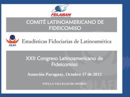 Estadísticas Fiduciarias de Latinoamérica