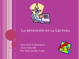 La Retención en la Lectura