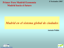 Foro madrid economia - Antonio Pulido, catedrático