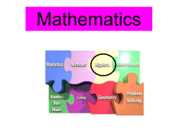 Algebra Strand